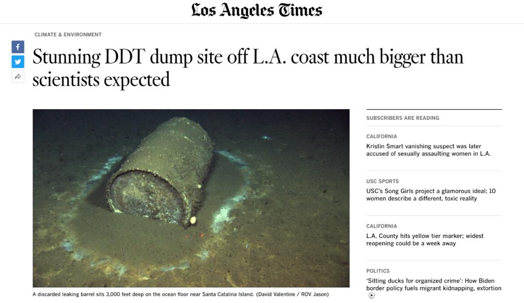 """看到加州海底的DDT,突然懂了美国对日本排核废水的""""宽容"""" 美容 第1张"""